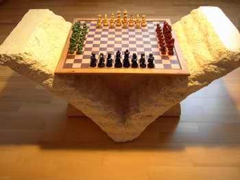 Schach hoch 2 als Wohnaccessoir