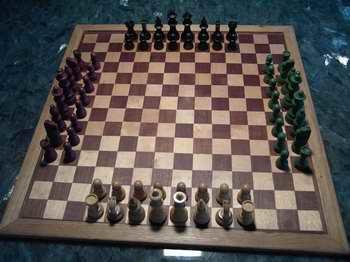 Schach hoch 2 Spiel